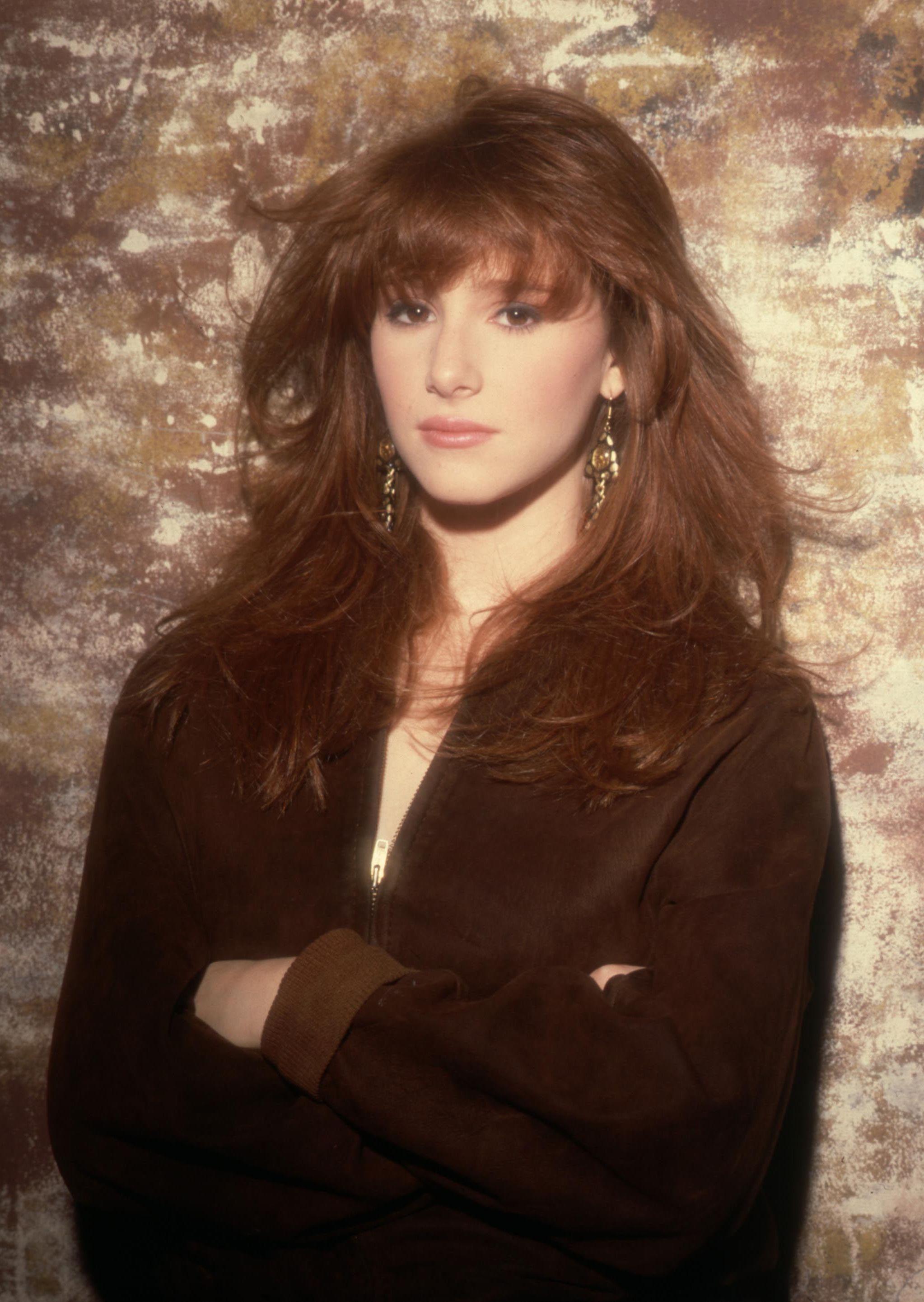 Singer Tiffany posing in 1988