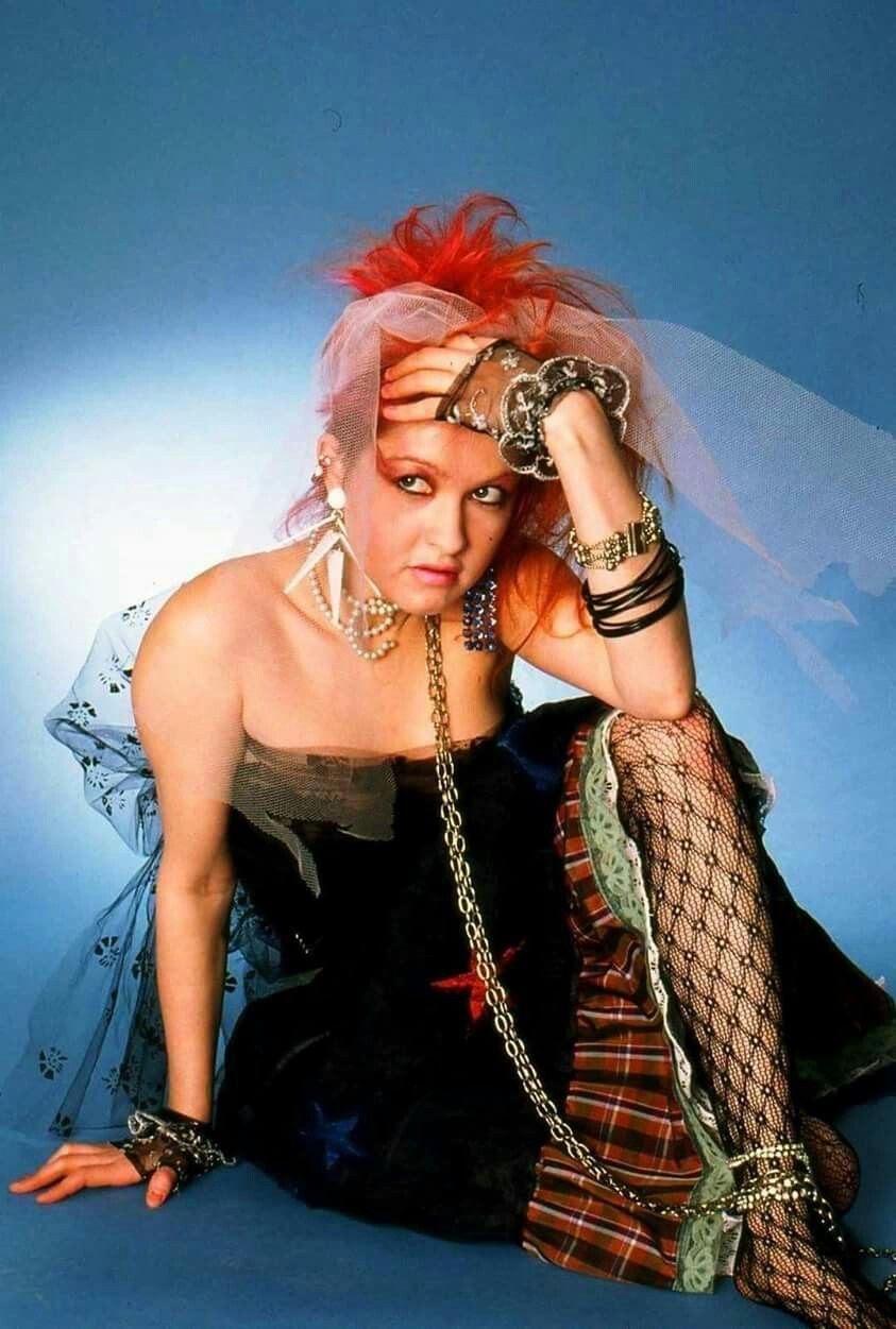Cyndi Lauper flaunting her unique style in 1983