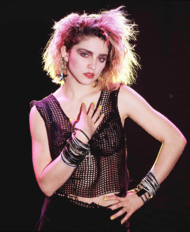 Madonna posing in 1984