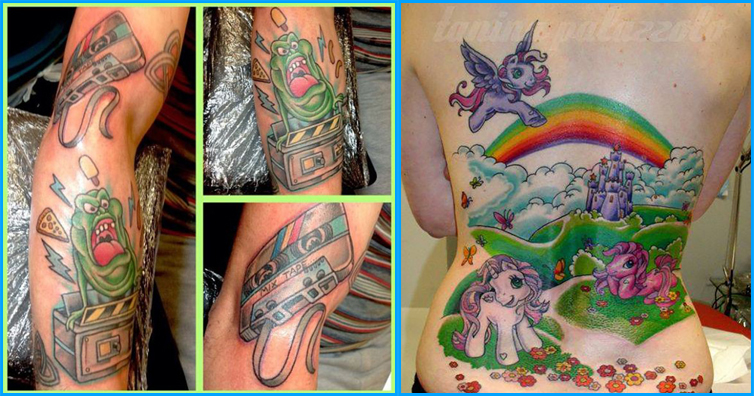 10 Totally Rad Tattoos Based On 80s Cartoons