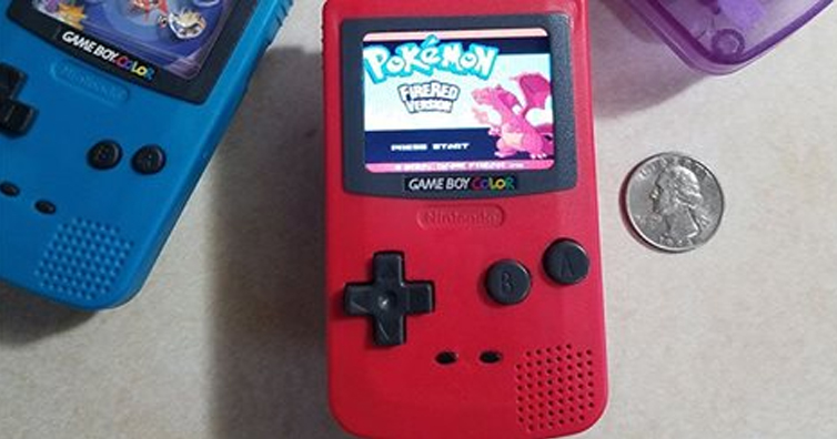 Someone Turned A Burger King Toy Into A Game Boy Color Nano And Its Amazing!