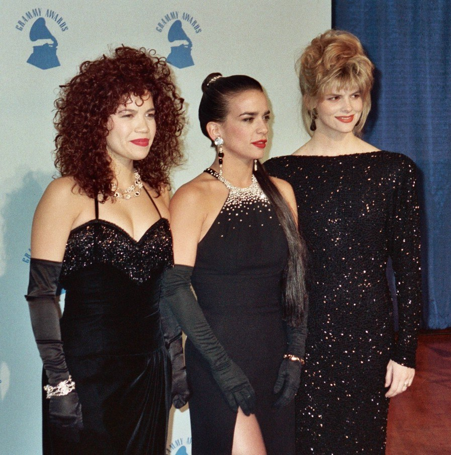 Gioia Bruno, Ann Curless and Jeanette Jurado of Exposé at the 32nd Grammys
