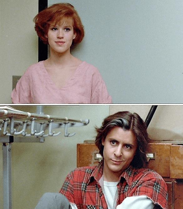 Romantic movie scene from 80s classic The Breakfast Club
