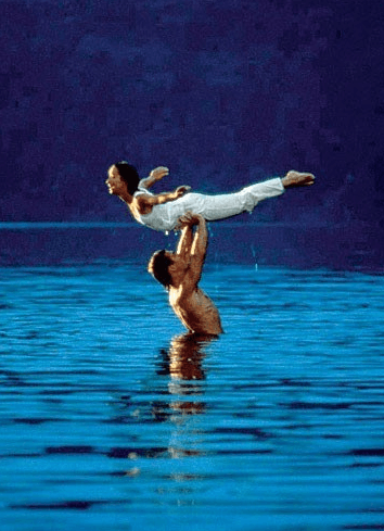 The lake scene from Dirty Dancing