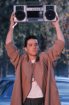 John Cusack holding up the speakers in Say Anything