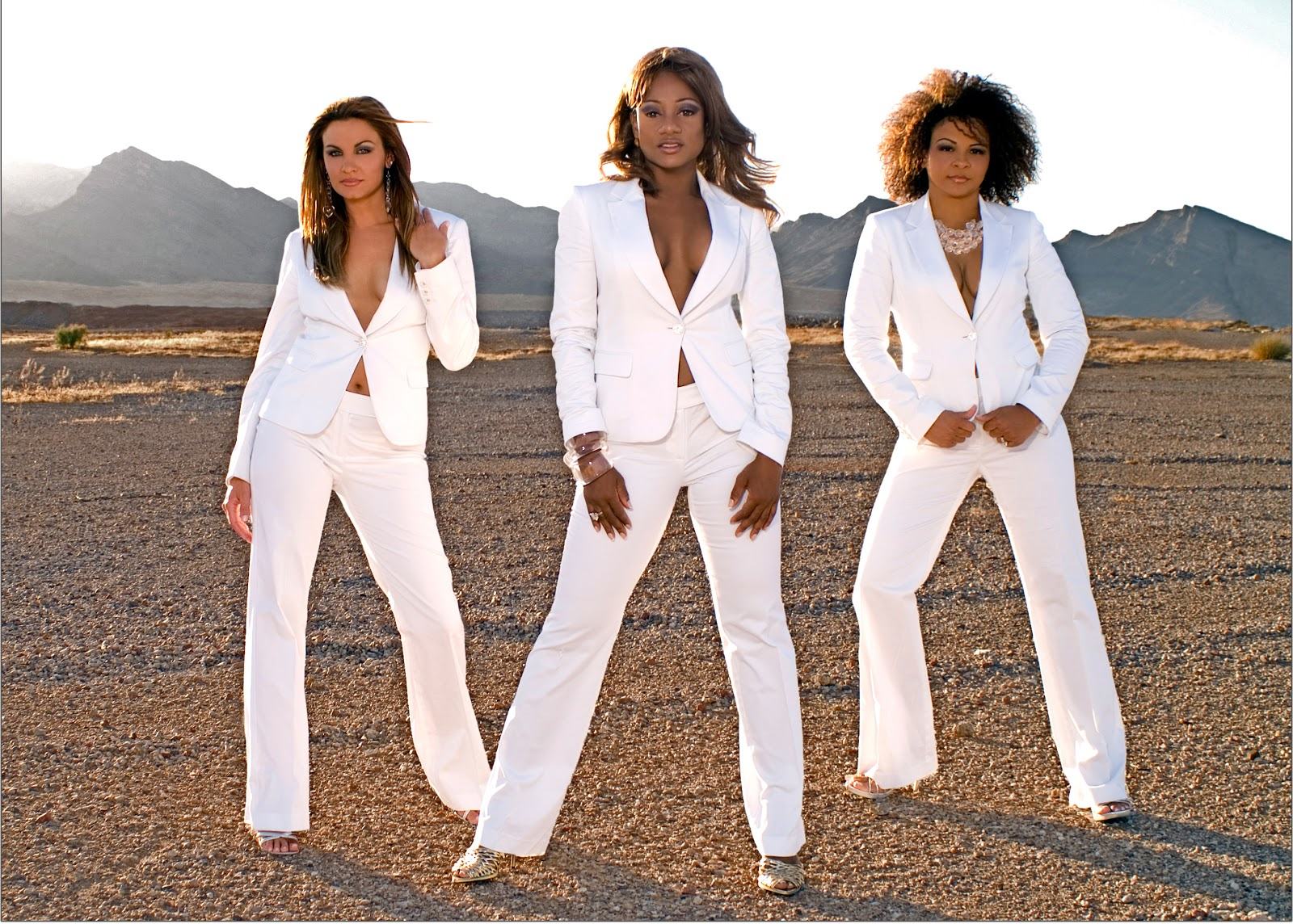 Company B in matching white suits