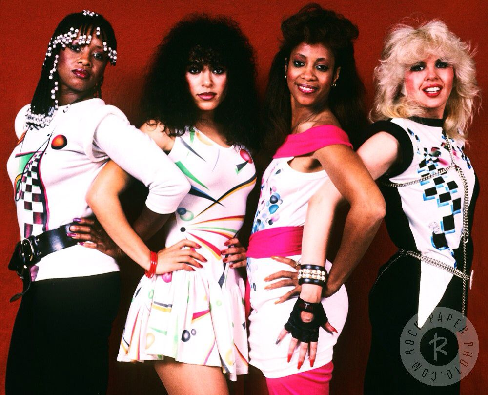 JoJo McDuffie, Cheri Bailey, Candi Ghant and Maxi Wuletich of The Mary Jane Girls