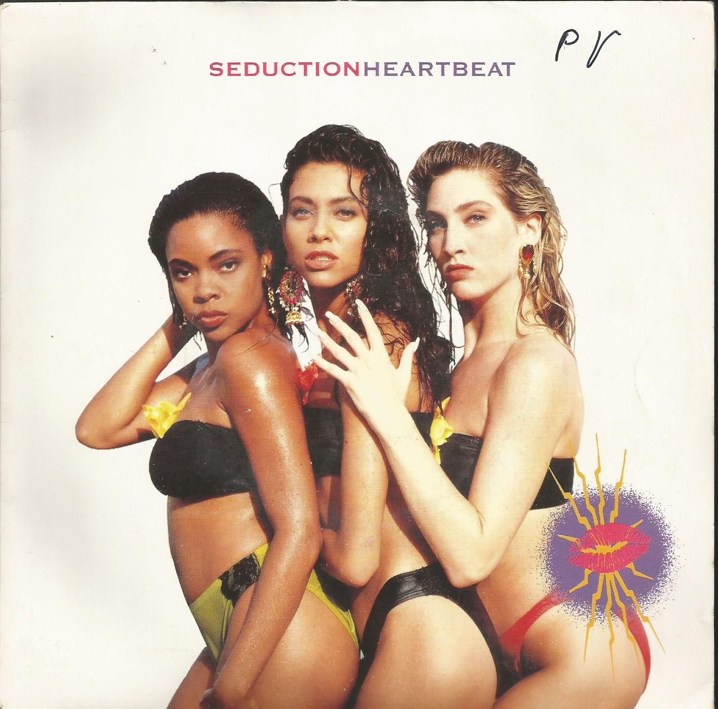 The single cover for 'Heartbeat' by Seduction