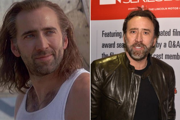 Nicolas cage now and then