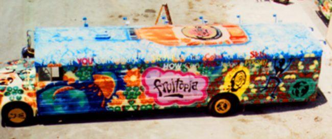 The infamous Fruitopia bus