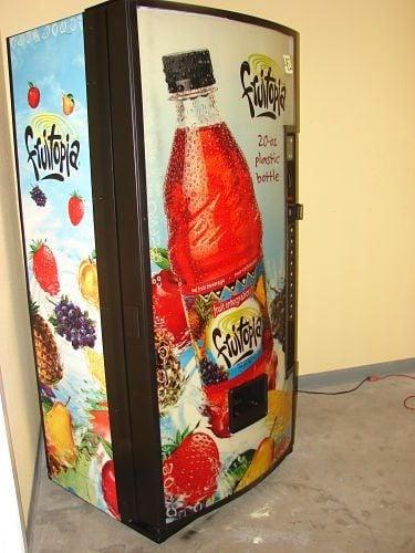 A Fruitopia high school vending machine