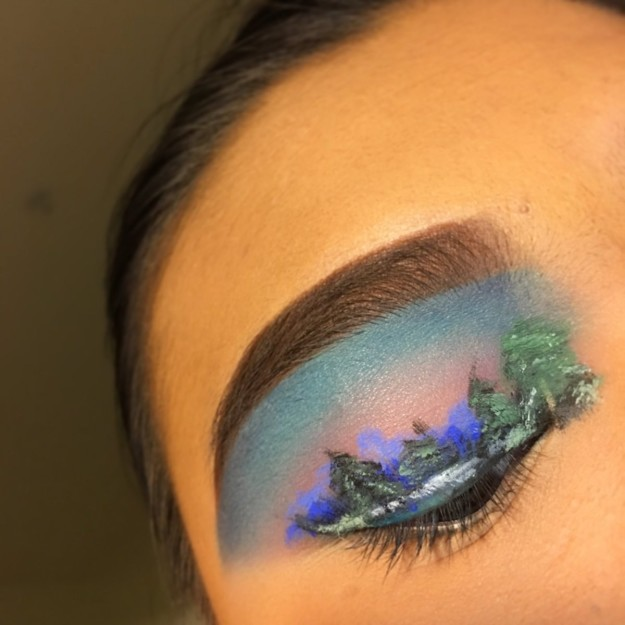 Bob Ross 2 People Are Obsessed With This Teen's Bob Ross–Inspired Eyeshadow