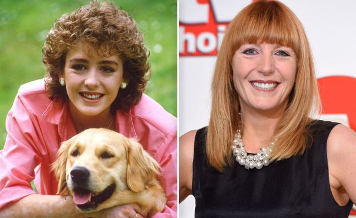 Yvette Fielding Then and now