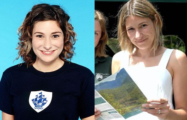 Liz Barker then and now