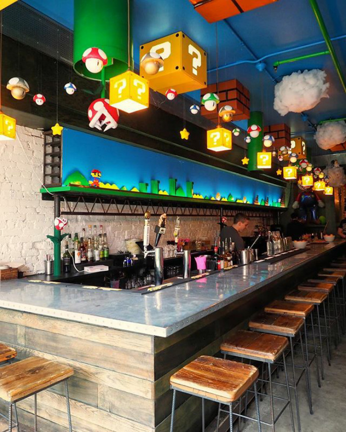 Mario Bar 1 Mario-Themed Bar Just Opened And It's Every Geek's Dream Come True