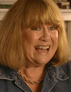 Nerys Hughes as Aunt Glenda in The Queen's Nose