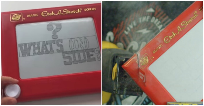 This Is What The Inside Of An Etch A Sketch Looks Like, And It's Not What You Expect