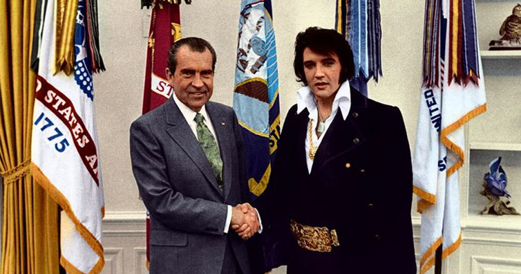 The Bizarre Story Behind This Famous Photo Of Richard Nixon And Elvis Presley