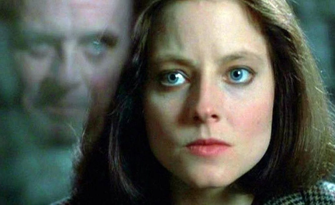 Jodie Foster Clarice meets Anthony Hopkins Hannibal in The Silence of the Lambs