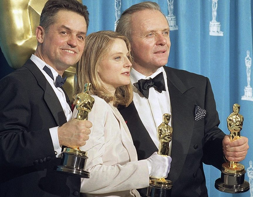 Jonathan Demme Jodie Foster Anthony Hopkins The Silence of the Lambs Oscars