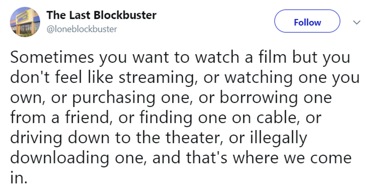 4 The World's Last Blockbuster May Have The Funniest Account On Twitter