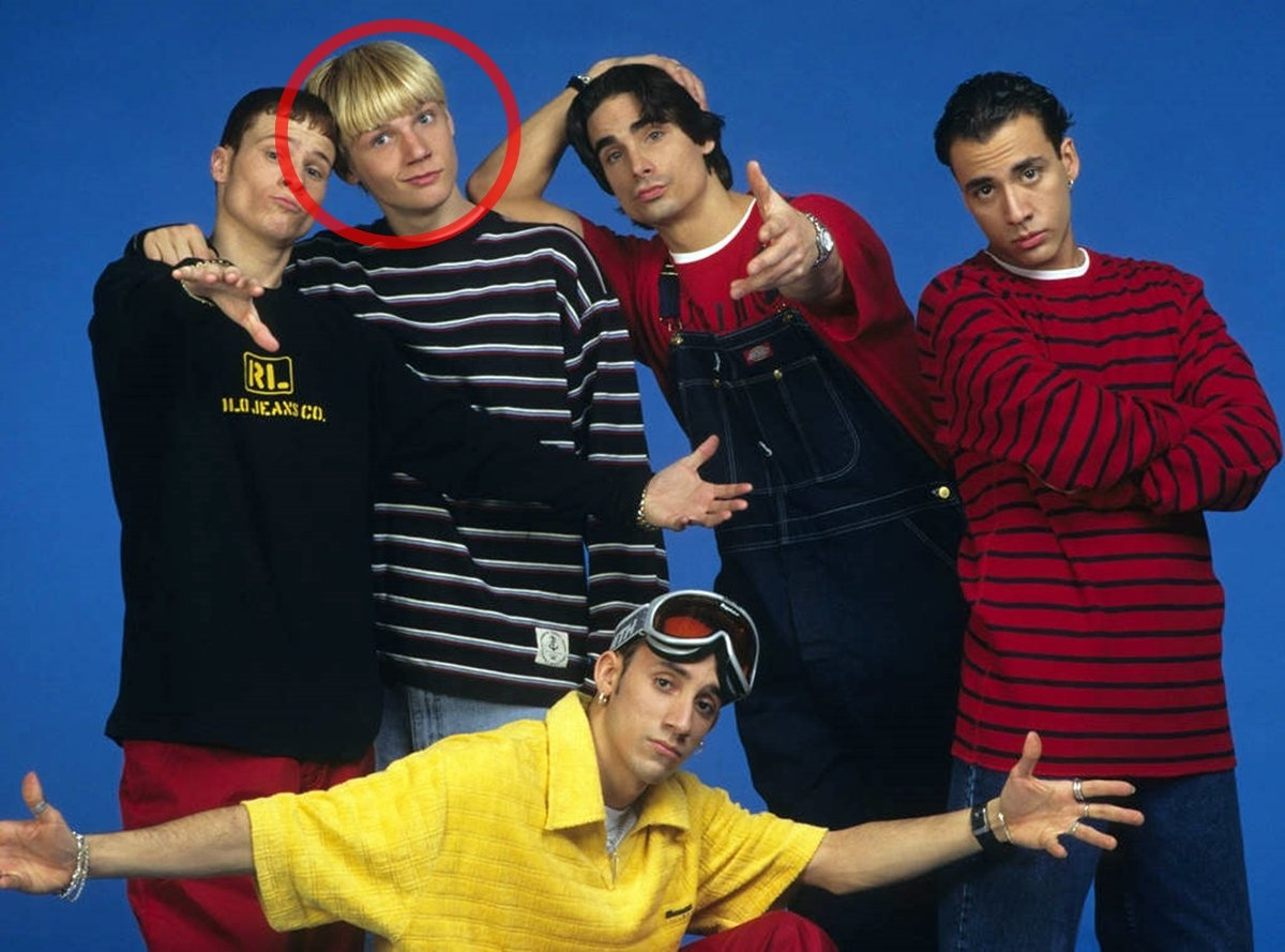 An early photo of the Backstreet Boys