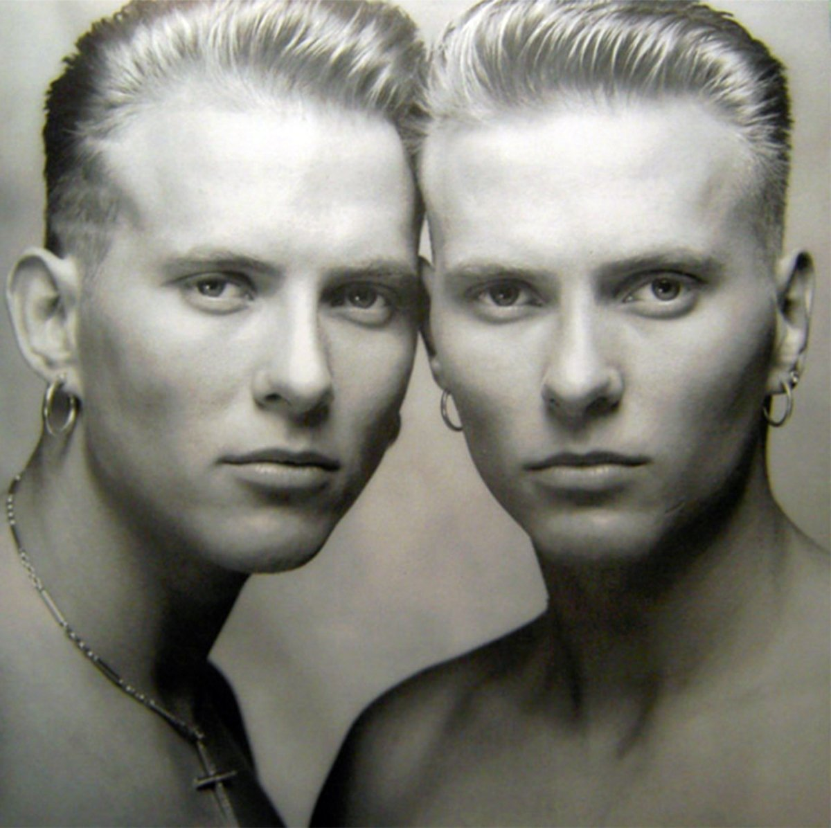 An 80s photo of the Goss twins