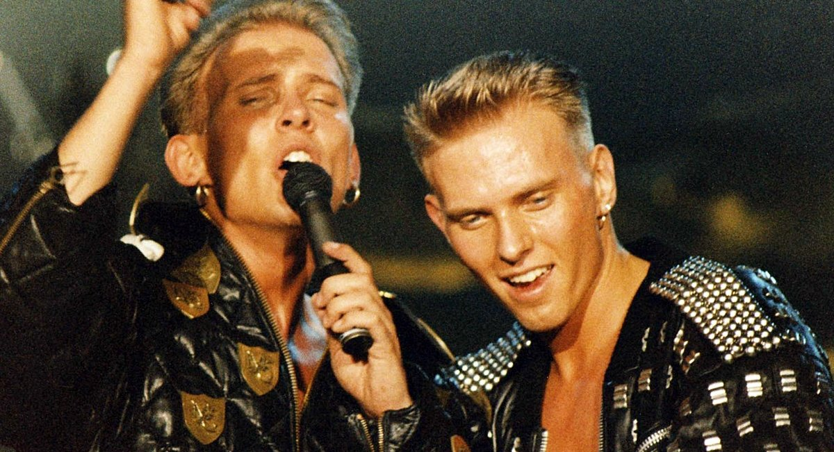 Bros performing live in the 1980s