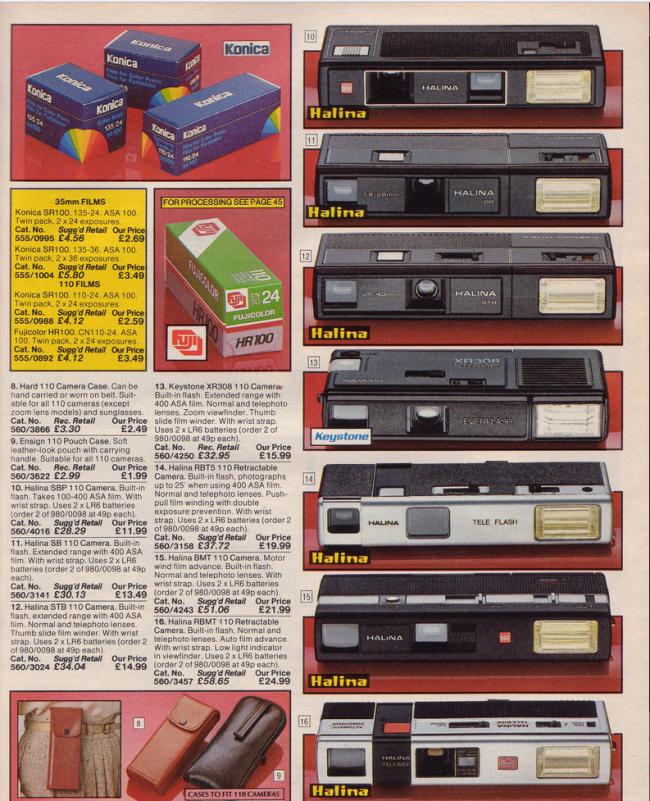 Cameras 19 Nostalgic Pages From The 1985 Argos Catalogue