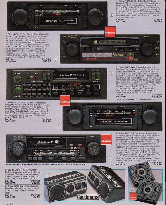 Car stero 19 Nostalgic Pages From The 1985 Argos Catalogue