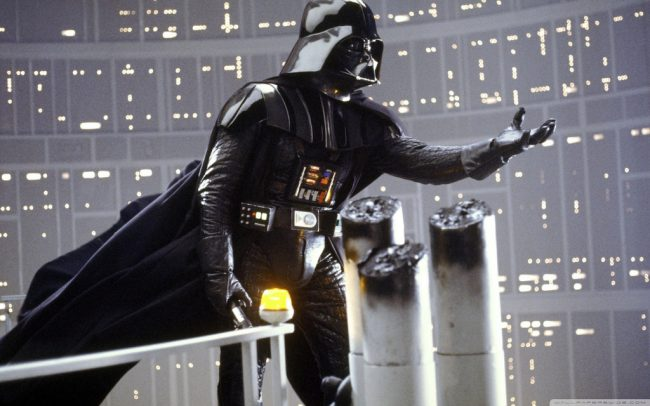 Darth Vader speaking to his son Luke