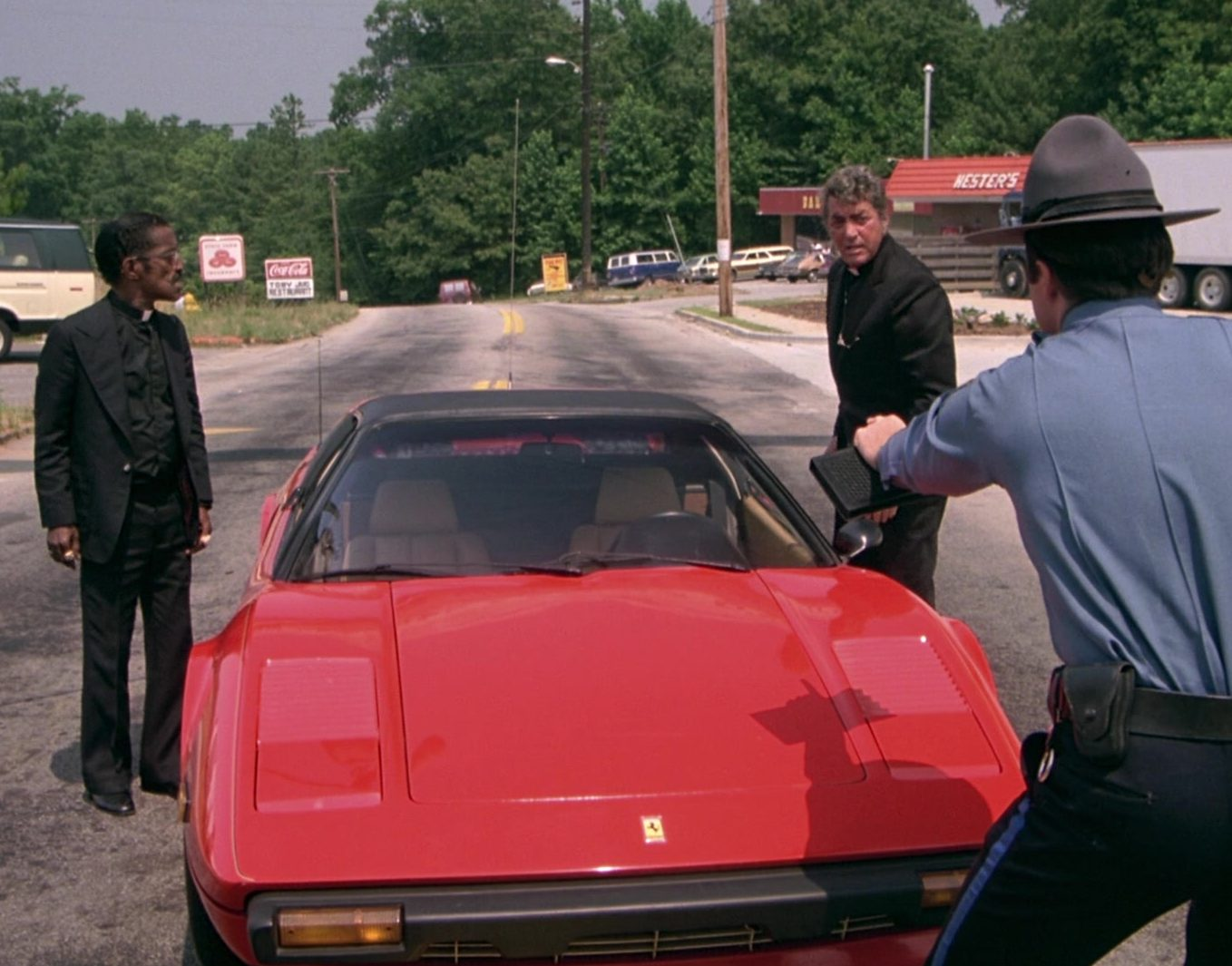 Ferrari 308 GTS Red Sports Car in The Cannonball Run 2 e1626963443525 20 Fun Facts You Didn't Know About The Cannonball Run Films
