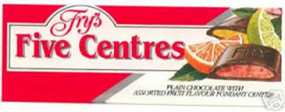 Fry's Five Centres chocolate from the 1980s