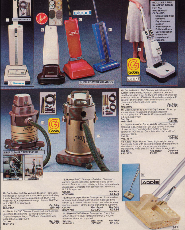 Hoovers 19 Nostalgic Pages From The 1985 Argos Catalogue