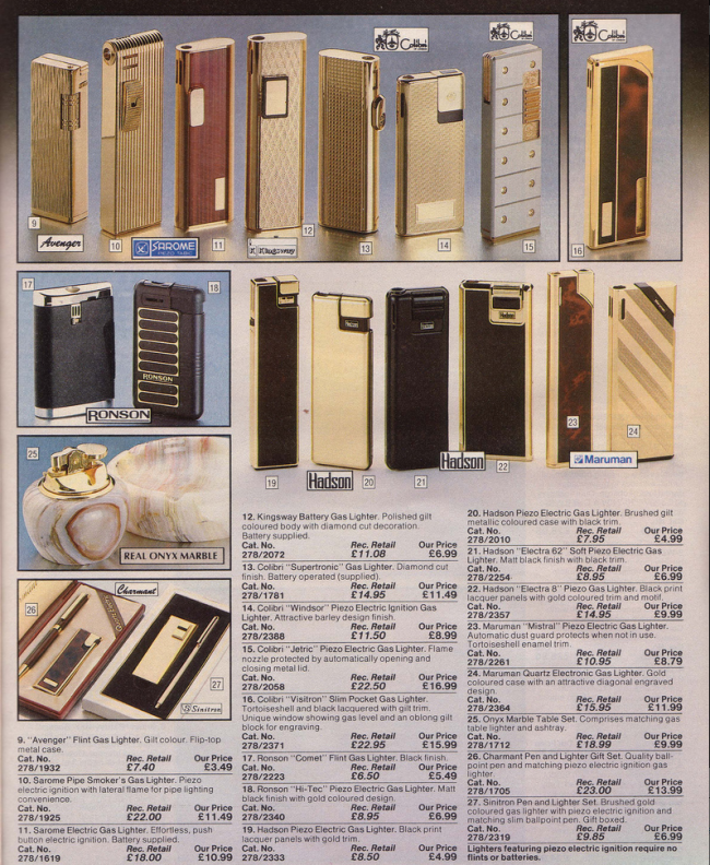 Lighters 19 Nostalgic Pages From The 1985 Argos Catalogue