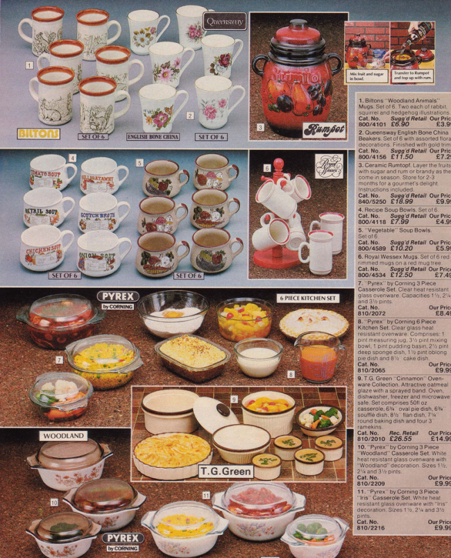 Mugs 19 Nostalgic Pages From The 1985 Argos Catalogue