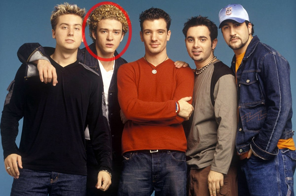 NSYNC at the start of their career