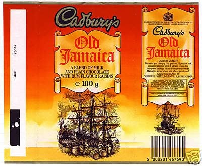 Old Jamaica 1980s wrapper