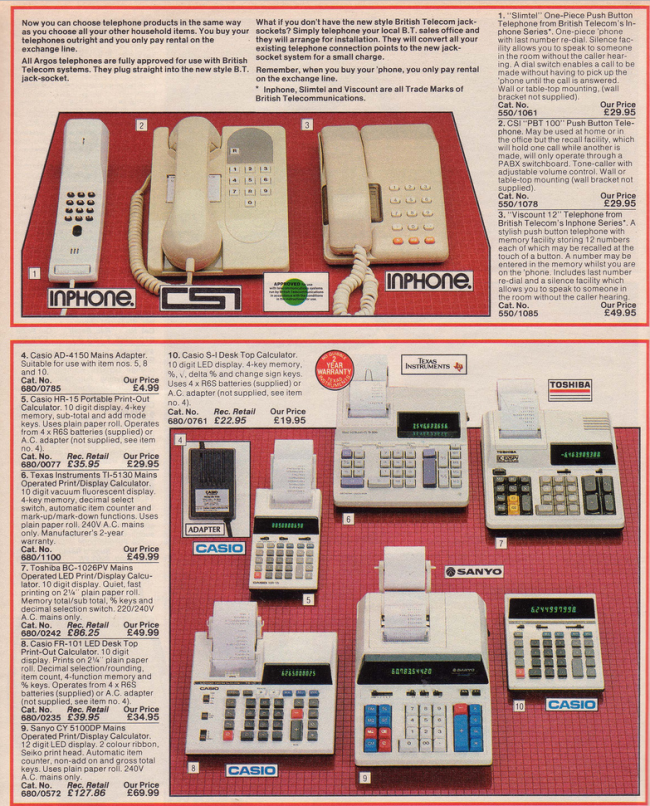 Phones 19 Nostalgic Pages From The 1985 Argos Catalogue