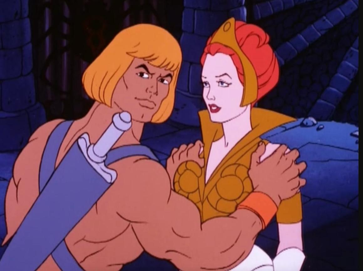 He-Man and Teela embrace