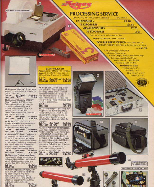 Slide carousel 19 Nostalgic Pages From The 1985 Argos Catalogue