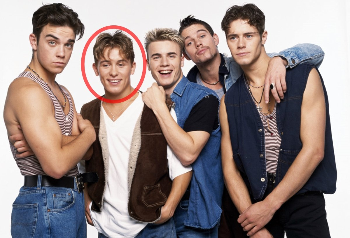 An early publicity shot of Take That