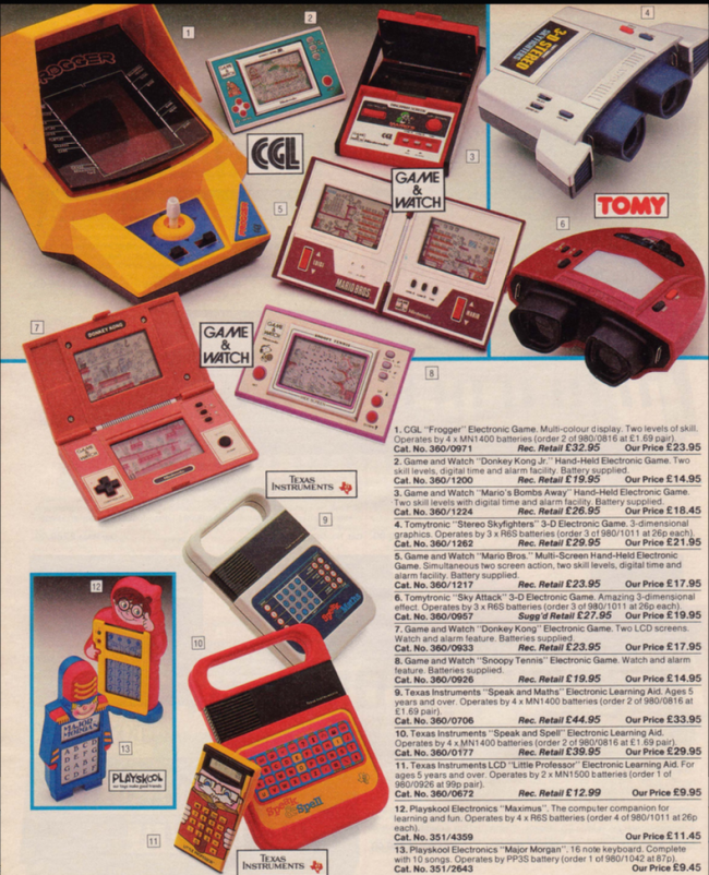 Video Game toys 19 Nostalgic Pages From The 1985 Argos Catalogue