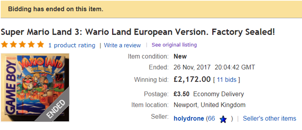 WARIOEBAY Do You Own Any Of These Computer Games That Sell For Big Money On Ebay?