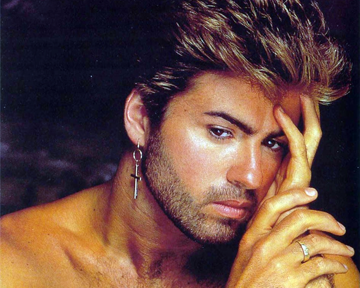 A photo of George Michael in the 1980s