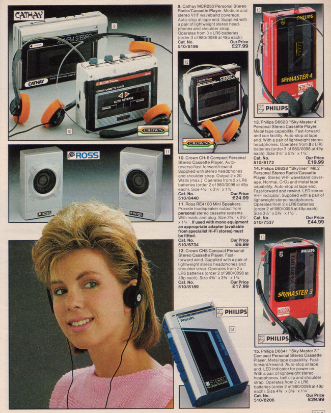 Walkman 19 Nostalgic Pages From The 1985 Argos Catalogue