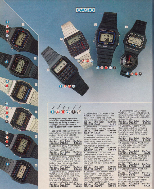 Watches 19 Nostalgic Pages From The 1985 Argos Catalogue