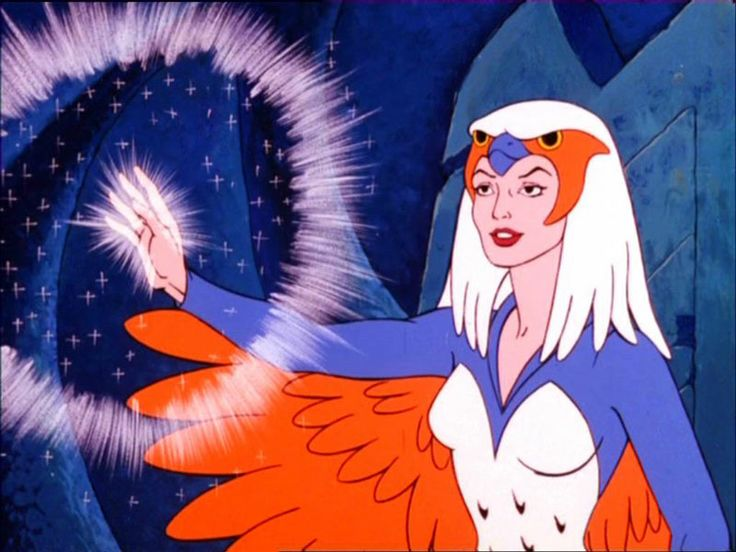 The Sorceress from He Man casts a spell