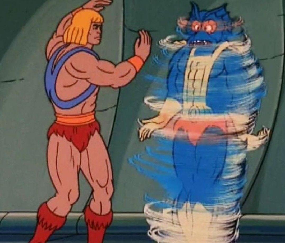 He-Man defeats Mer-Man by spinning him