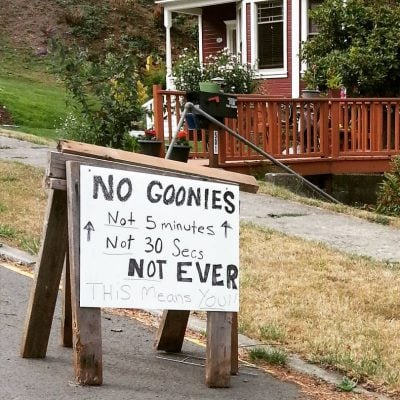 goonie house warning Why Sloth, Chunk And The Lessons The Goonies Taught Us So Important, Even Today